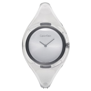 Calvin Klein Women's Round Silvertone Water-resistant Watch