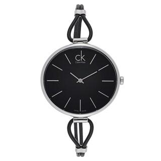 Calvin Klein Women's K3V231C1 Black Stainless Steel Swiss Quartz Watch