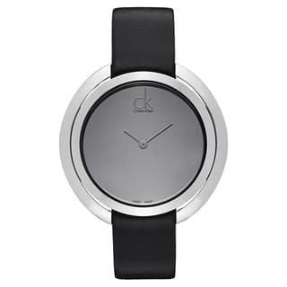 Calvin Klein Women's Stainless Steel Black Leather Watch|https://ak1.ostkcdn.com/images/products/12058709/P18928475.jpg?impolicy=medium