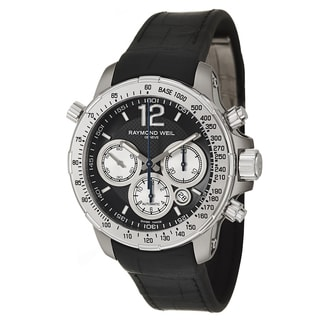 Raymond Weil Men's Black Rubber and Stainless Steel Watch