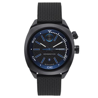 Movado Men's Stainless Steel Black Rubber Watch|https://ak1.ostkcdn.com/images/products/12058731/P18928494.jpg?impolicy=medium