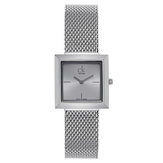 Calvin Klein Women's Silvertone Stainless Steel Watch