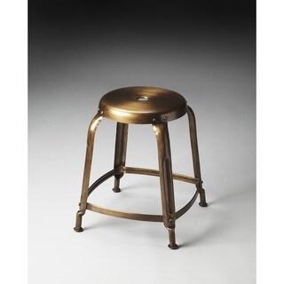 Handmade Butler Dutton Bronze Iron Stool (India)