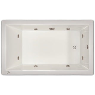 Signature Bath White Acrylic Drop-in Whirlpool Tub