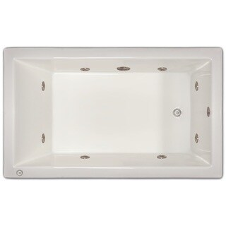 Signature Bath White Acrylic Drop-in Whirlpool Tub (2 options available)