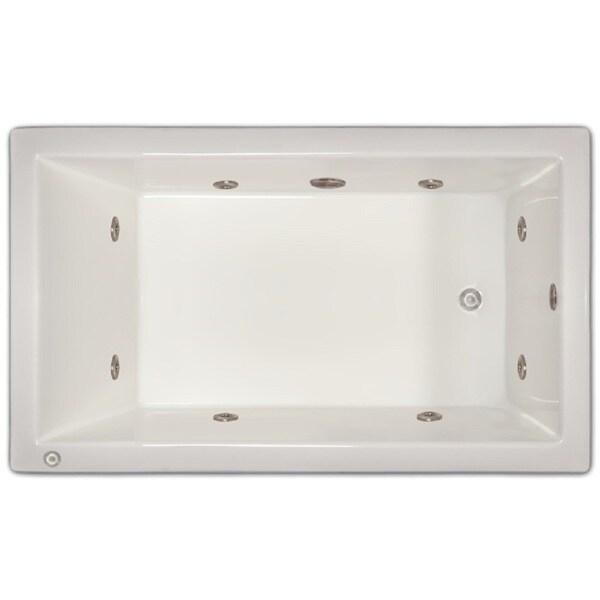 Shop Signature Bath White Acrylic Drop-in Whirlpool Tub - Free ...