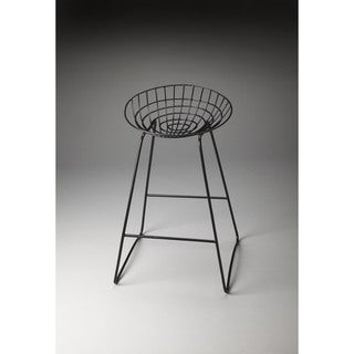 Butler Ludwig Black Iron Bar Stool