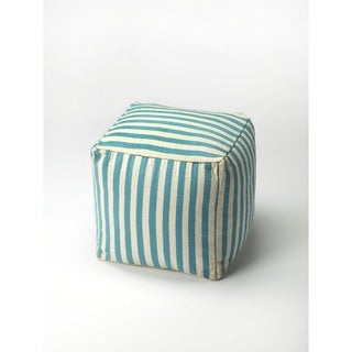 Butler Sanibel Blue Stripe Pouffe