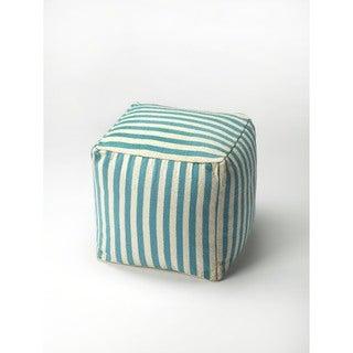 Butler Sanibel Blue Stripe Pouffe