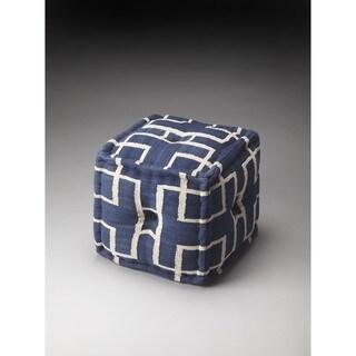 Butler Berkeley Blue Cotton Pouffe