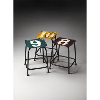 Butler Trio Industrial Chic Stool Set