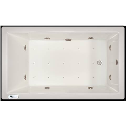 Signature Bath 72-inch x 42-inch x 18-inch Drop-in Whirlpool/Air Combo Tub