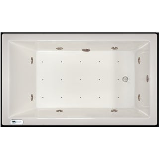 Signature Bath 72-inch x 42-inch x 18-inch Drop-in Whirlpool/Air Combo Tub