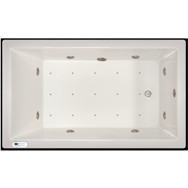 Signature Bath 72 Inch X 42 Inch X 18 Inch Drop In Whirlpool Air Combo Tub