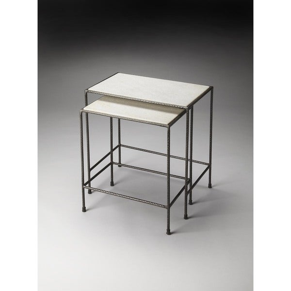 Butler Carrera Marble Rectangular Nesting Tables   MultiColor