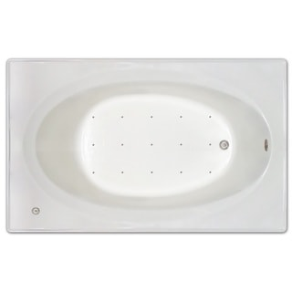 Signature Bath White Acrylic 72-inch x 42-inch x 19-inch Drop-in Air tub with Stainless Jets and Heated Blower