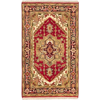 eCarpetGallery Serapi Heritage Red/Black Cotton/Wool Hand-knotted Rug (3'1 x 5'1)