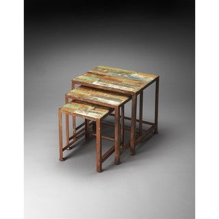 Butler Decatur Recycled Wood/Iron Nesting Tables