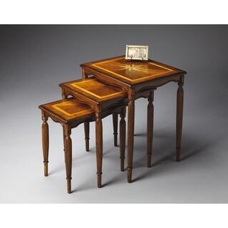 Butler Winifred Olive Ash Burl Wood/MDF Nesting Tables