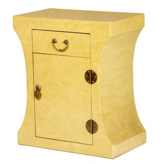 Zahava Home Collection Sakura Curved Accent Table/Nightstand (Ivory)