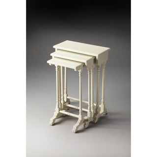 Butler Dunham Cottage White Nesting Tables