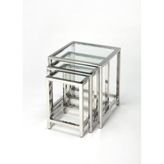 Butler Adler Stainless Steel Nesting Tables