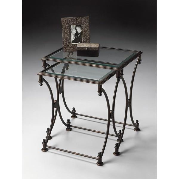 Butler Beverly Rectangular Metal Nesting Tables - Black