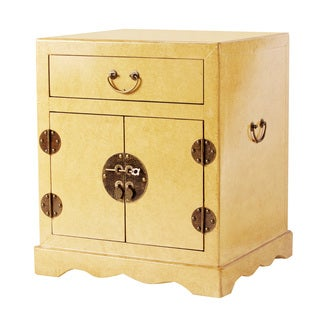Zahava Home Collection Kitami Accent Table/Nightstand (Ivory)