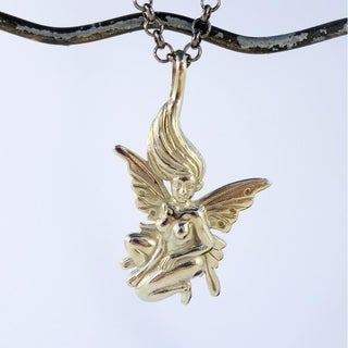 Spirit Silver Fairy Whisperer Necklace (Bali)