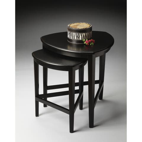 Handmade Butler Finnegan Black Licorice Nesting Tables (China)