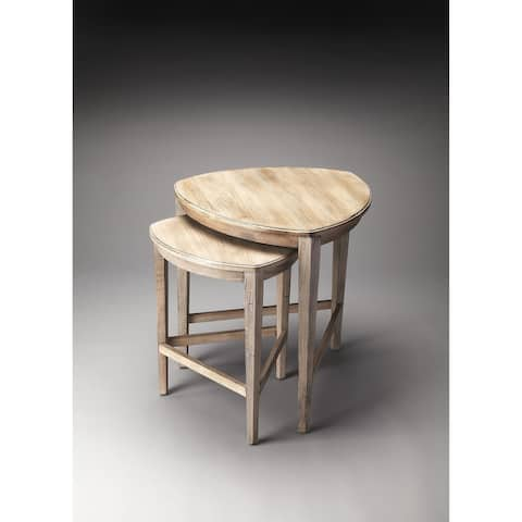 Handmade Butler Finnegan Driftwood Nesting Tables (China)