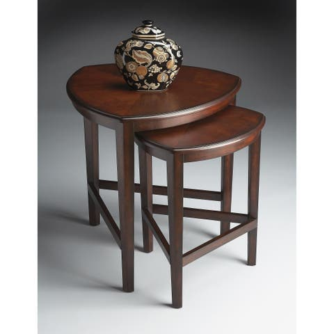 Butler Finnegan Cherry Finish Wood/MDF Nesting Tables