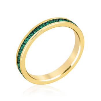 Kate Bissett Brass, Swarovski Crystals Eternity Ring