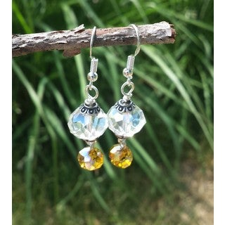 Mama Designs Sterling Silver Handmade Beaded Drop Style Earrings