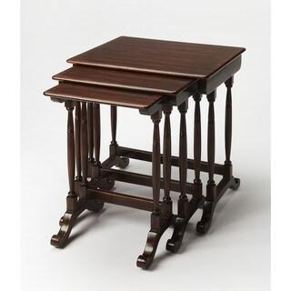 Butler Castle Heirloom Wood Nesting Tables