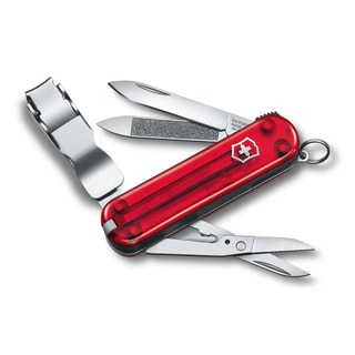 Victorinox Nail Clip 580 Ruby Translucent Swiss Army Knife