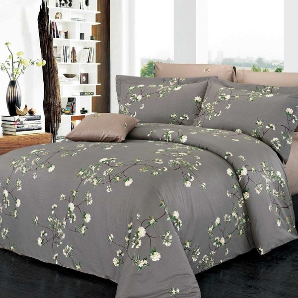 Trellis Cotton 4-piece Duvet Cover Set