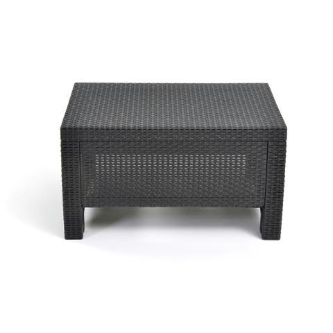 Quintana Charcoal All-Weather Outdoor Garden Patio Coffee Table by Havenside Home