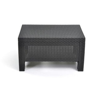 Havenside Home Quintana Charcoal All-Weather Outdoor Garden Patio Coffee Table