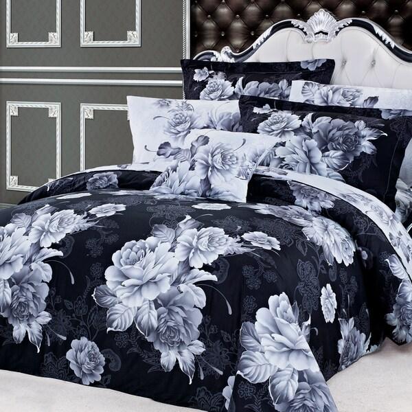 Oakwood Floral Cotton 4 Piece Duvet Cover Set