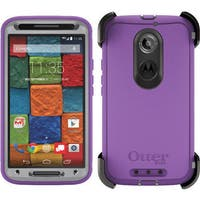 OtterBox 77-50235 Plum Punch Defender Case for Moto X 2nd Gen (Retail Packaging)