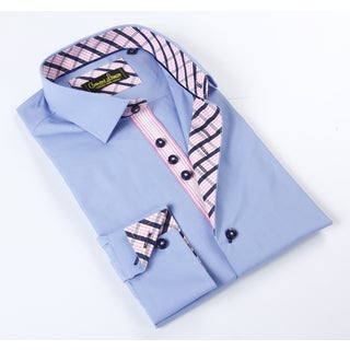 Banana Lemon Classic Light Blue Soild Dress Shirt