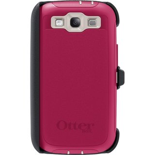 OtterBox 77-22435 Defender Series Pink Case and Holster for Samsung Galaxy S III in Retail Packaging