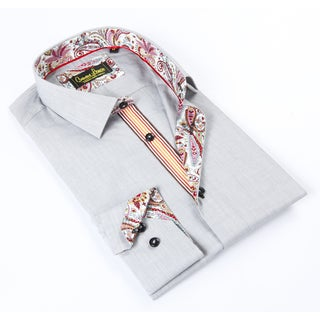 Banana Lemon Classic Light Grey Soild Dress Shirt