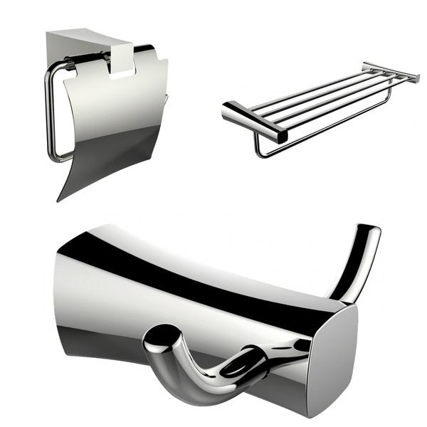 Multi Rod Towel Rack Robe Hook And Toilet Paper Holder Accessory Set