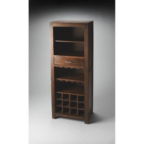 Handmade Butler Hewett Brown Wood Bar Cabinet (India)