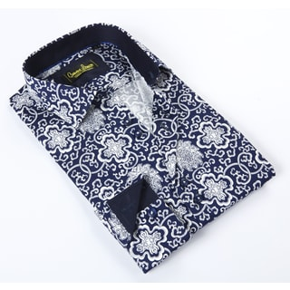 Banana Lemon Classic Button Down Celtic Navy Dress Shirt