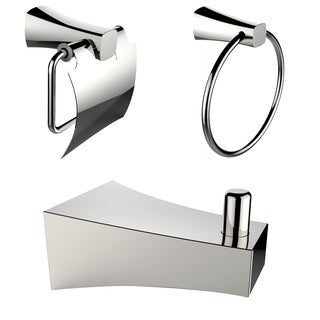 Chrome Plated Robe Hook With Towel Ring And Toilet Paper Holder Accessory Set