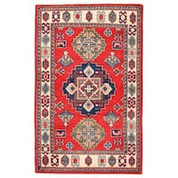 Herat Oriental Afghan Hand-knotted Kazak Wool Rug (2'7 x 4') - 2'7 x 4'