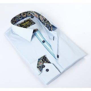 Banana Lemon Classic Button Down Light Blue Dress Shirt